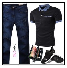 """""""Newchic 8"""" by merisa-imsirovic ❤ liked on Polyvore featuring men's fashion and menswear"""