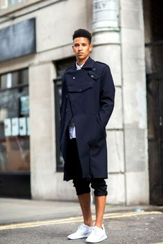 The 21 Most Fashionable Fellas In London #refinery29  http://www.refinery29.com/london-mens-fashion#slide-3  Liking the new trouser length.