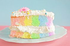 Nice change from the other rainbow cakes - but how to make it?!