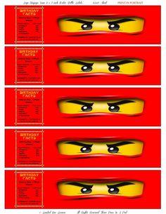 Instant Download Lego Ninjago Kai Printable Party Ideas