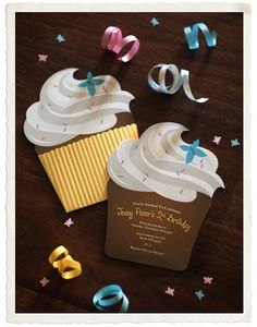 adorable cupcake invites