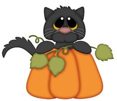 Weekly Freebie - cat and pumpkin