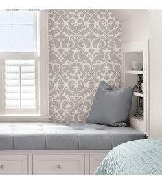 WallPops® NuWallpaper™ Grey Ironwork Peel & Stick Wallpaper | Online Only Product