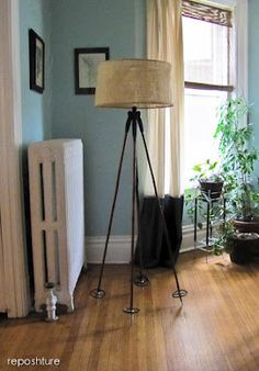 Reposhture: Ski Pole Floor Lamp tutorial; I too want a telescope lamp but would never pay the $$$ I have seen them for and have not been able to find a telescope to repurpose myself so...this is a great substitute - also check out Kim's blog she is funny and gets you to think outside the box