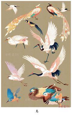 Bird Drawings, Animal Drawings, Illustrator, Japanese Artwork, Japanese Painting, Illustrations And Posters, Grafik Design, Bird Art, Chinese Art