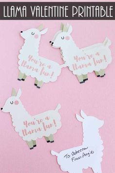 Make this funny Valentine with a llama quickly! Includes a free printable as well as instructions for cutting on your Cricut if you would like! by hattie My Funny Valentine, Valentines Day Party, Valentines Day Decorations, Valentine Day Crafts, Valentine Ideas, Printable Valentine, Valentine Template, Homemade Valentines, Valentine's Day Quotes