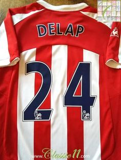 Relive Rory Delap's Premier League season with this original Le Coq Sportif Stoke City home football shirt. Shaun Wright Phillips, Red White Striped Shirt, College Basketball, Soccer Sports, Stoke City Fc, Premier League Teams, Vintage Football Shirts, Epic Fail Pictures, Burnley