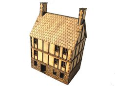 A 3 storey MDF laser cut Napoleonic Fantasy Bolt Action Part timbered building 1/56 28mm
