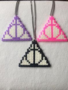 Doni della morte collane  Harry Potter Perler Hama di Craftians