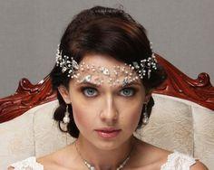 bridal hair comb wedding hair piece rhinestone crsystal pearl gold silver rose gold tiara hair accessory wreath headband halo
