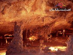 TURISMO EN CHIHUAHUA Las grutas de Coyame, ubicadas a solo dos kilómetros de Coyame están formadas por depósitos de carbonato de calcio de origen orgánico. Estas grutas son de roca caliza acumulando en sus paredes estalactitas y estalagmitas, lo que les da un toque único. Le invitamos a visitar este maravilloso lugar del estado de Chihuahua. #turismoenchihuahua