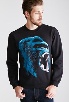 Gorilla Graphic Sweatshirt | 21 Men - 2000100884