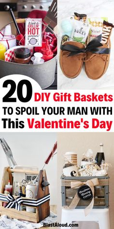 20 Easy DIY gift baskets for men for Valentines day! Spoil your man this Valentine's day with these easy DIY gifts valentines day gifts Gift Baskets For Men: 20 DIY Gift Baskets For Him That He Will Love Bday Gifts For Him, Surprise Gifts For Him, Thoughtful Gifts For Him, Romantic Gifts For Him, Valentines Day Gifts For Him, Valentines Baskets For Him, Romantic Dates, Diy Gifts For Christmas, Christmas Gifts For Boyfriend