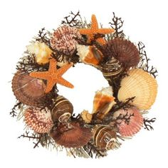 Seashell Wreath...I like the use of big shells