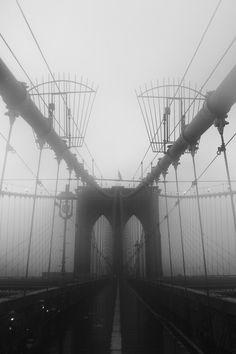 Brooklyn Bridge fog, #truenewyork #lovenyc