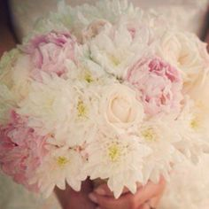 Bouquet of peonies, chrysanthemums and roses