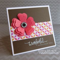 Dream Pop & Fabulous You stamp set Flower cut from Art Philosophy Free gift from Lalia with purchase!