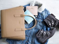CARA leather bag and accessories