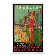 Atlantic City - America's All Year Resort Poster by RetroCommunications