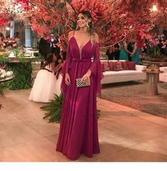 Amazing purple V-neck dress CR 534 V Neck Prom Dresses, V Neck Dress, Bridesmaid Dresses, Formal Dresses, Dress Prom, Mermaid Skirt, Summer Events, Red Carpet Looks, Dress For You