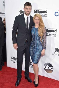 Gerard Pique and Shakira | All The Looks From The Billboard Music Awards Red Carpet