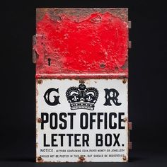Love this letter box door - it would have been put up during the reign of George V and the lower section is an enamel plaque with some lovely details. Reign, Enamel, Letters, Antiques, Paper, Box, Instagram Posts, Decor, Decoration