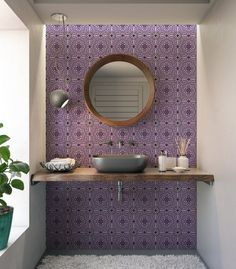 Mandala Tile Design Ceramic Tile Backsplash KitchenBathroom Tiles Mosaic Three Sizes 4.25x4.25 6x6 Unique Decorative Ceramic Tile