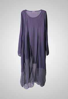 Kleiderhunger? Herbst/Winter 2014/15 voile & gauze perhaps.  Dip dye so same color