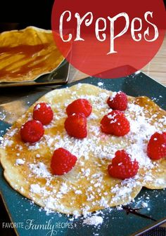 We love crepes! The best thing about them is that you can enjoy them with so many different fillings. This is a great starter recipe!