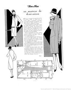 free sewing vintage pattern / La Femme de France [