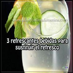 3 refrescantes bebidas para sustituir el refresco