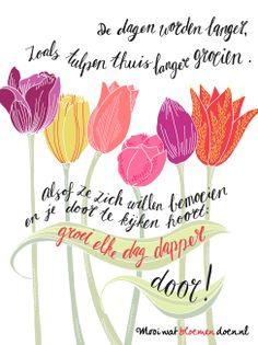 Bloemlezing de tulp. Illustratie: Het Paradijs. Dichter: Kim Triesscheijn. www.mooiwatbloemendoen.nl