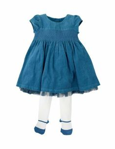 2 Piece Autograph Cotton Rich Corduroy Dress & Tights Outfit - Marks & Spencer