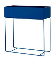 Ferm Living Box voor plant blauw metaal 60x25x65cm - lefliving.be