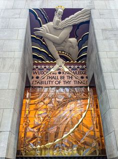 Rockefeller Place has some of the finest Art Deco Architecture in New York City.