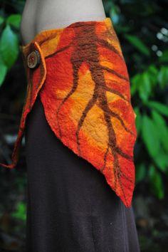 Felt Autumn Leaf Fairy Pixie Belt Skirt OOAK by frixiegirl on Etsy