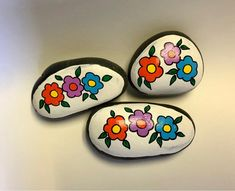 Easter Flowers Painted Rock Easter Painted Stone Easter