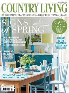 Country Living magazine March 2015 cover countryliving.co.uk