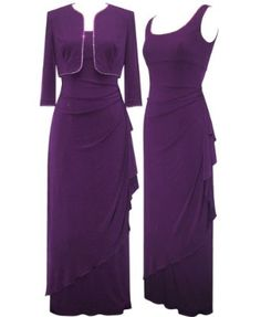 plus size mother of the bride dresses purple | ... Plus Size Purple Midnight Dress And Shawl -- Size:20 Color:Purple
