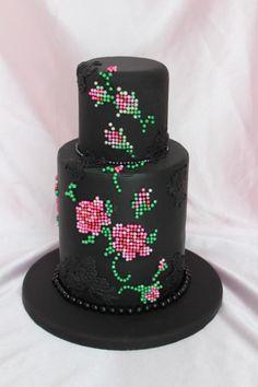 Cross Stitch Cake - cake by Tami