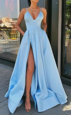 fashion prom dresses with pockets, light blue long prom dresses, cheap prom gowns Beautifully blue ? fashion prom dresses with pockets, light blue long prom dresses, cheap prom gowns Prom Dresses Long Pink, Prom Dresses With Pockets, Straps Prom Dresses, Pretty Prom Dresses, A Line Prom Dresses, Formal Evening Dresses, Formal Prom, Evening Gowns, Wedding Dresses