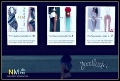 Scandalize Second Life Lucky Letter Boards