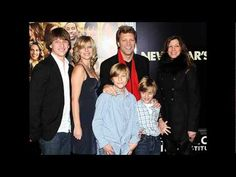 Jon Bon Jovi and his wife Dorothea Hurley and their children