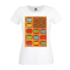 Dames | Lady-fit tshirt Caffeinated (613820/780)