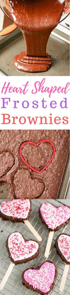 With Valentine's Day right around the corner, these Heart Shaped Frosted Brownies make for a decadent dessert to share with your loved ones. via /simplymommy/