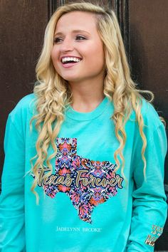 Texas Forever LS (Chalky Mint) - Long Sleeve