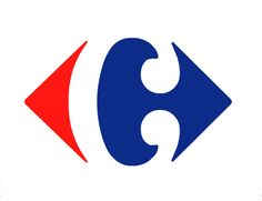carrefour logo; C in negative space, solid fill primary colours