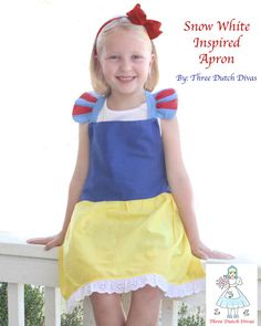 Adorable Snow white princess inspired apron made by Three Dutch Divas on Etsy