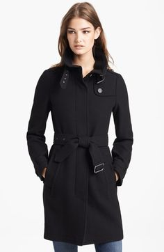 Burberry Brit 'Rushworth' Belted Wool Blend Coat | Nordstrom