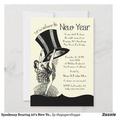 Speakeasy Roaring 20's New Year's Eve Party Invitation 1920s Speakeasy, Speakeasy Party, Custom Invitations, Invitation Design, Party Invitations, Colored Envelopes, White Envelopes, 1920s Theme, Party Themes